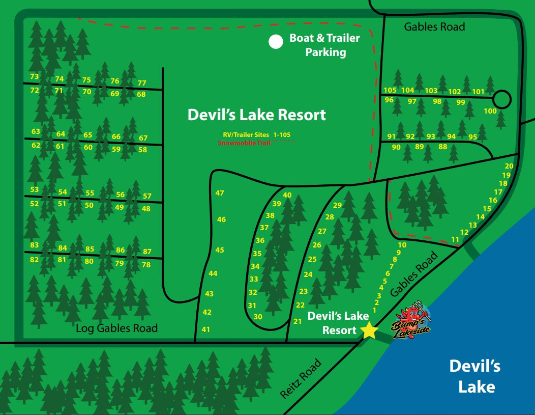 devils-lake-resort-seasonal-campsite-map